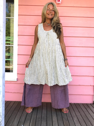 Earth Gypsy Stripey Smock Dress