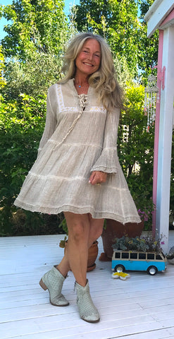 Linen Gypsy Summer Nature Dress