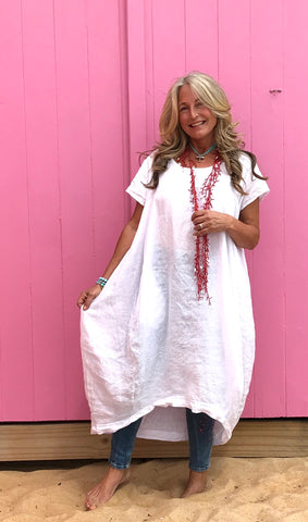Linen Gypsy Christmas Dress