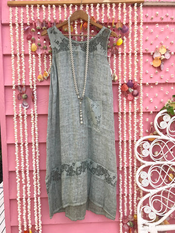 Linen Gypsy Lace and Linen Dress