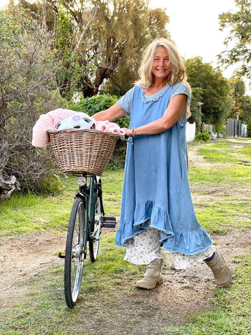 Prairie Gypsy Denim Farm Girl Dress