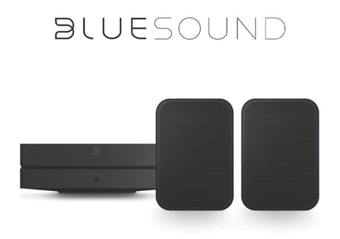 BlueSound Home Theatre: POWERNODE 2i & FLEX 2i Pack