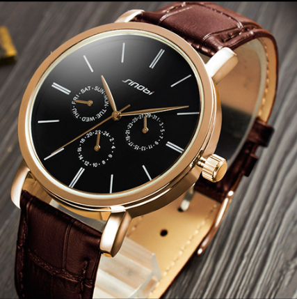 fashion watch yh sinobi international s9536g multi function geniune leather band chronograph men s business fashion watch