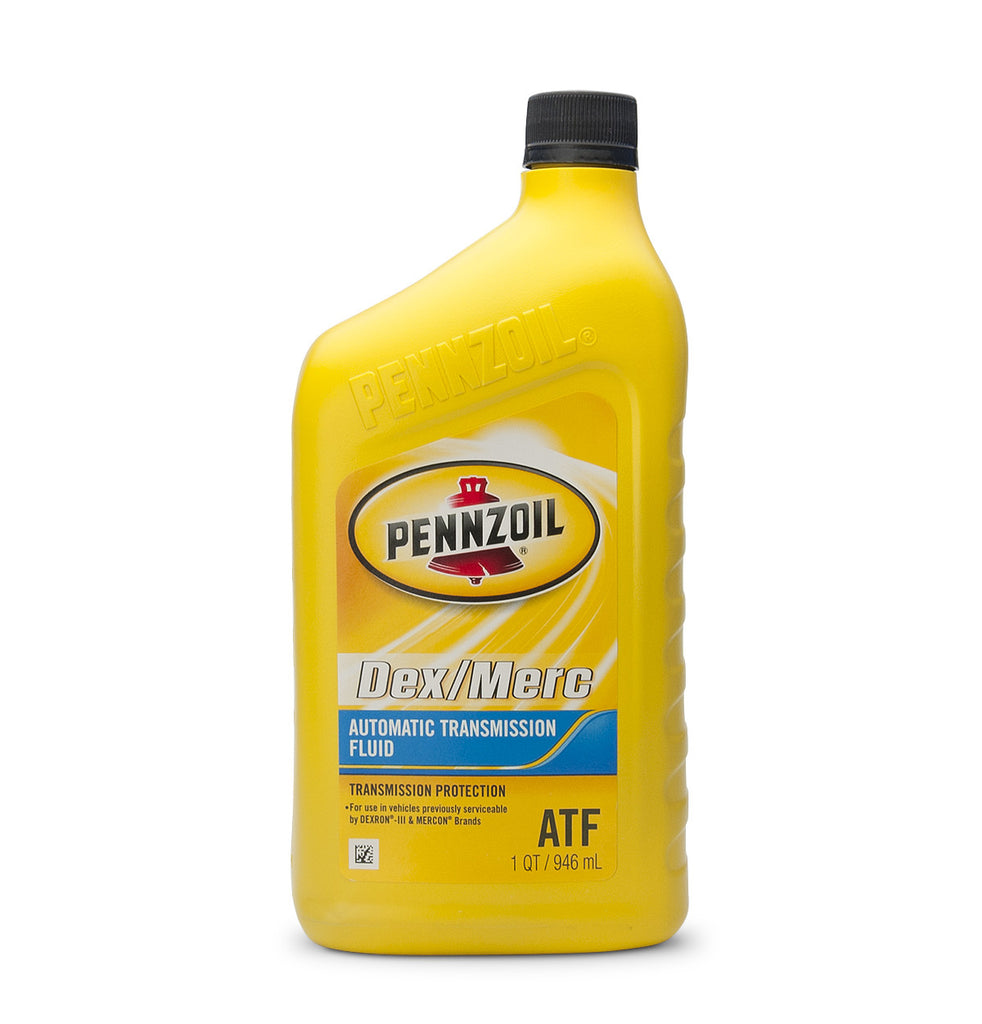 Pennzoil Dex/Merc ATF hydraulic fluid for Lecomble & Schmitt steering systems.