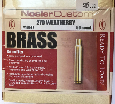 Nosler Custom Brass 270 Weatherby (50)