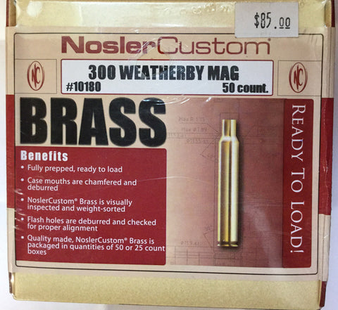 Nosler Custom Brass 300 Weatherby Mag (50)
