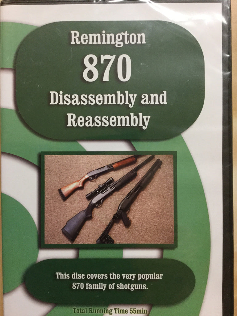 DVD - Remington 870 Disassembly and Reassembly