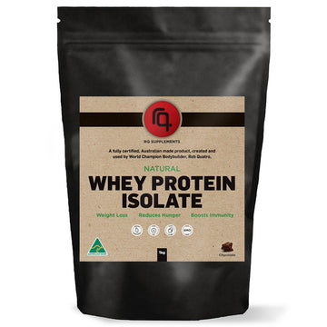 Natural Whey Protein Isolate Chocolate Flavour - RQ Supplements