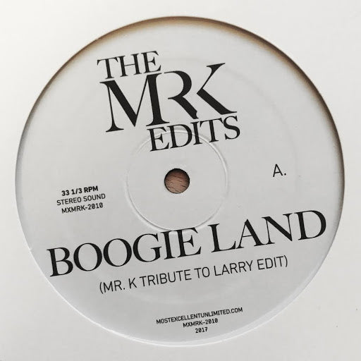 Boogie Land / Lady Lady Lady- Edits By Mr. K 12""