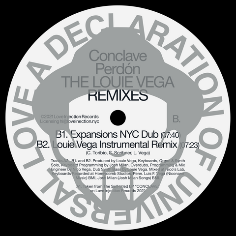 "[PRE-ORDER] Conclave, ""Perdón"" (The Louie Vega Remixes) 12"""