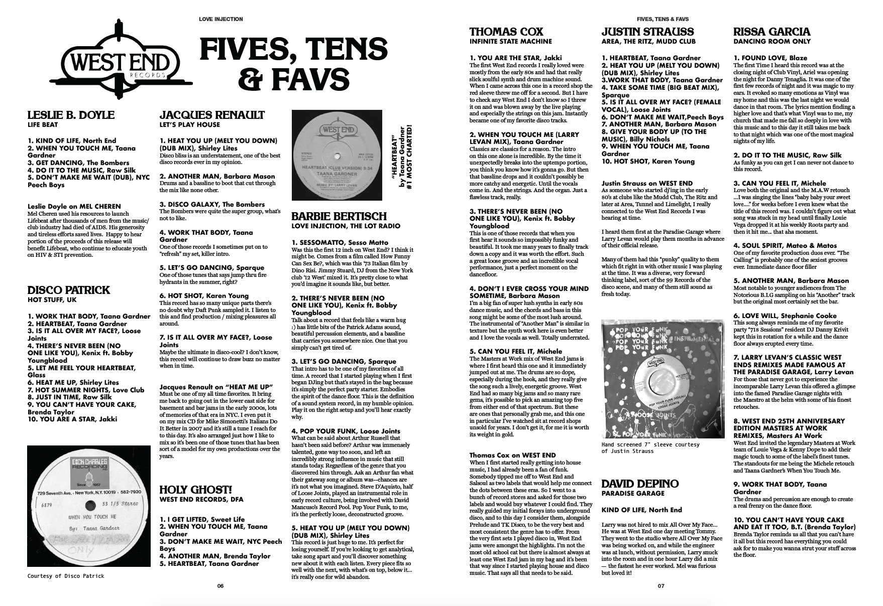 Love Injection Fanzine 42 'West End Records' Special Issue