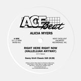 Alicia Myers - Right Here Right Now (Hallelujah Anyway) (The Danny Krivit Mixes) 12""