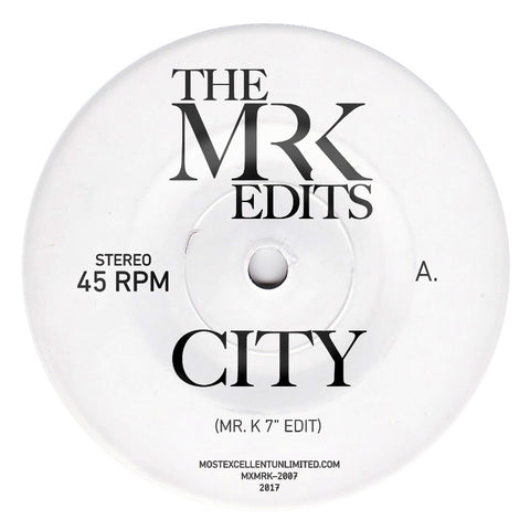 City / Sun Sun Sun - Edits By Mr. K 7""