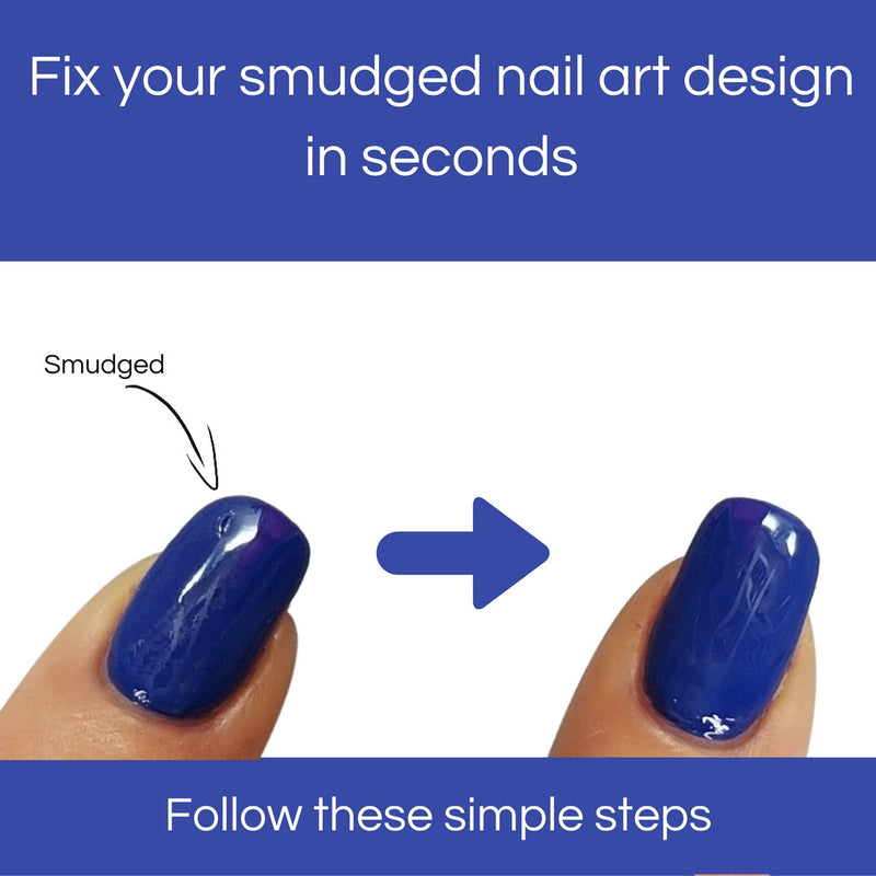Fix your smudged nail art design in seconds! That easy!