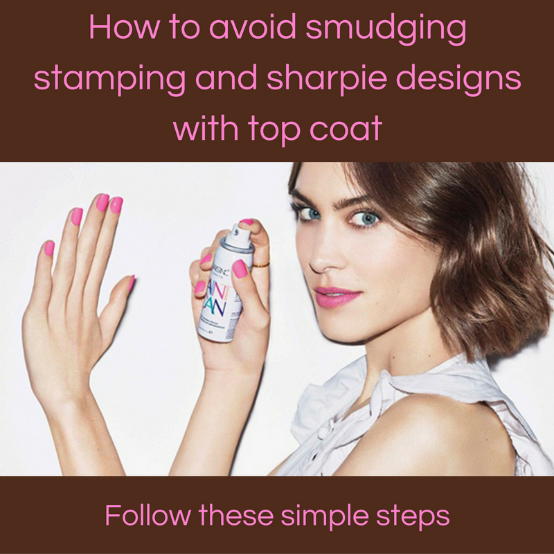 How to avoid smudging stamping and sharpie designs with top coat