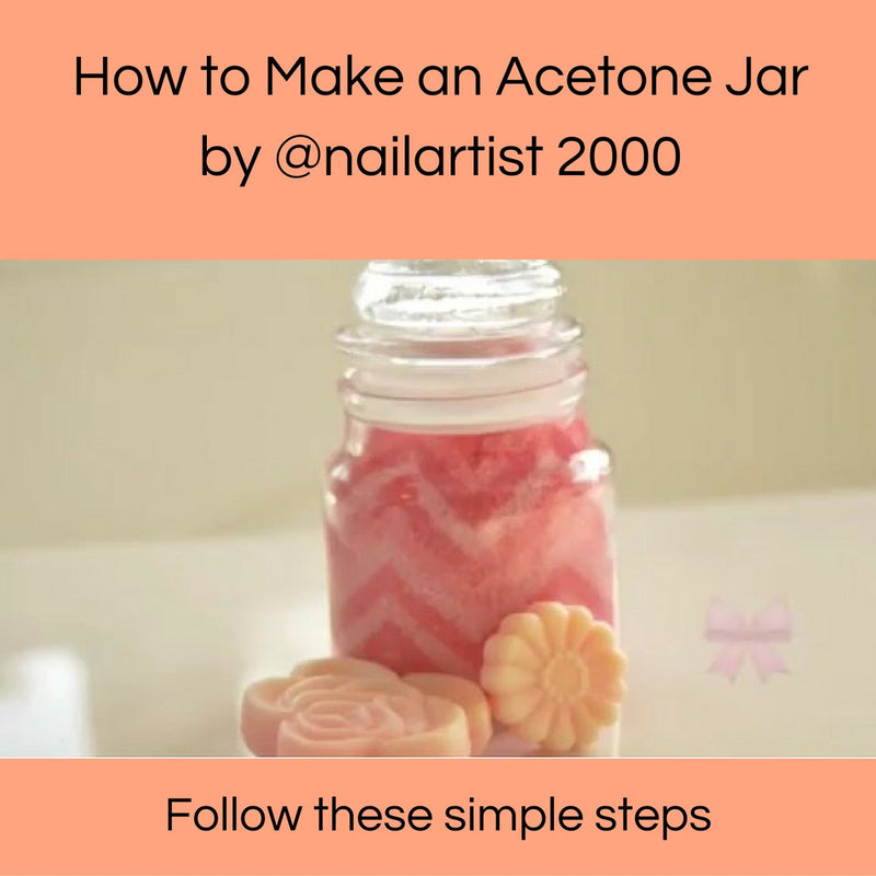 How to make an acetone jar by @nailartist2000