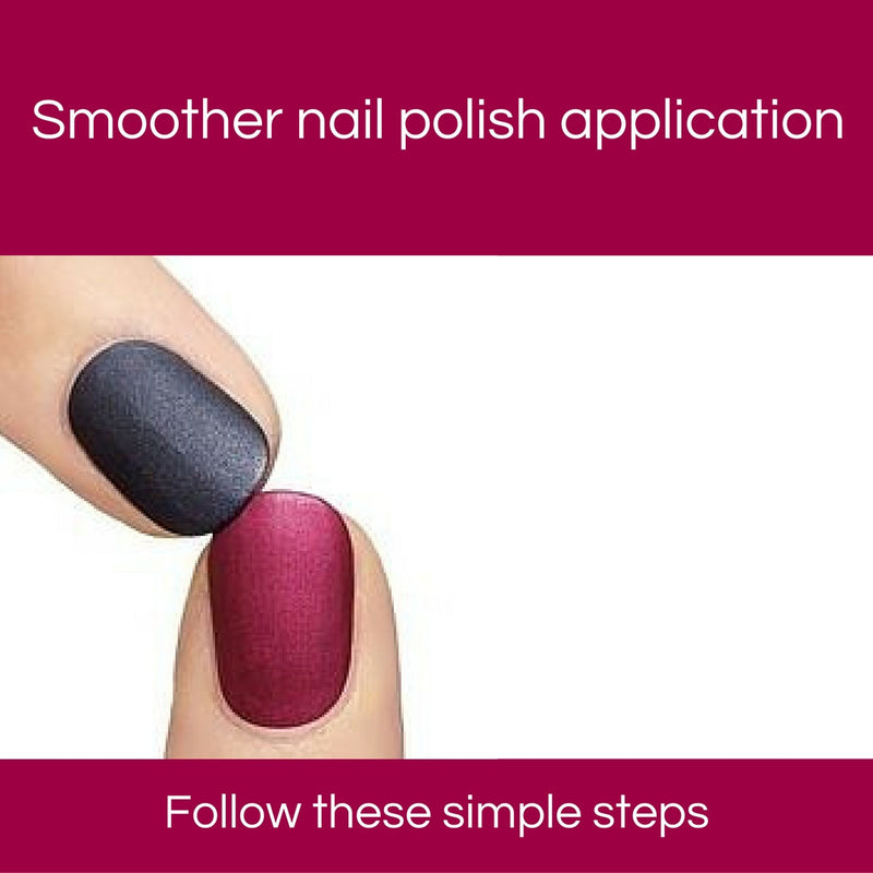 Smoother nail polish application