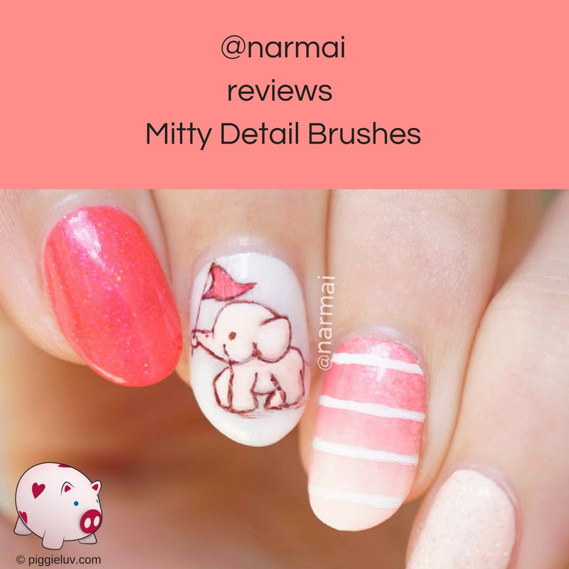 @narmai reviews Mitty detail brushes (655K Followers)