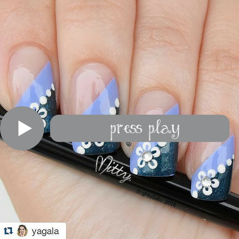 how to draw floral nail art