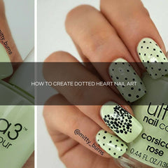 how to create dotted nail art