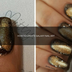 HOW TO CREATE GALAXY NAIL ART