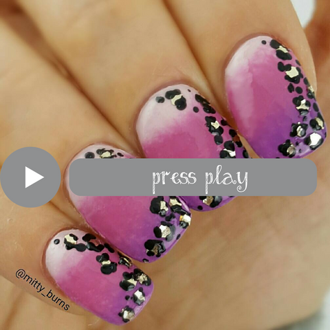 How to create leopard print nail art