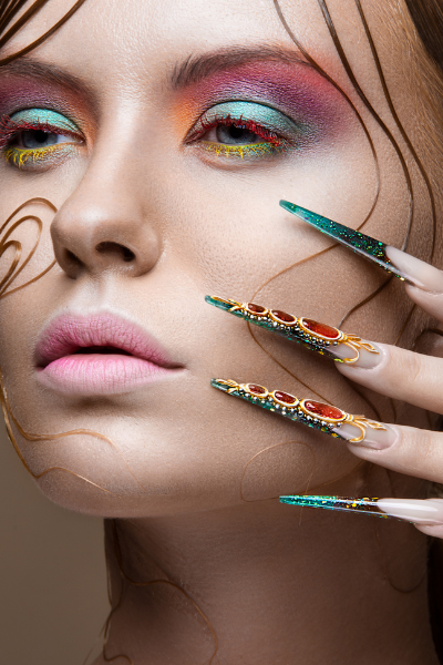 how to create nail extension