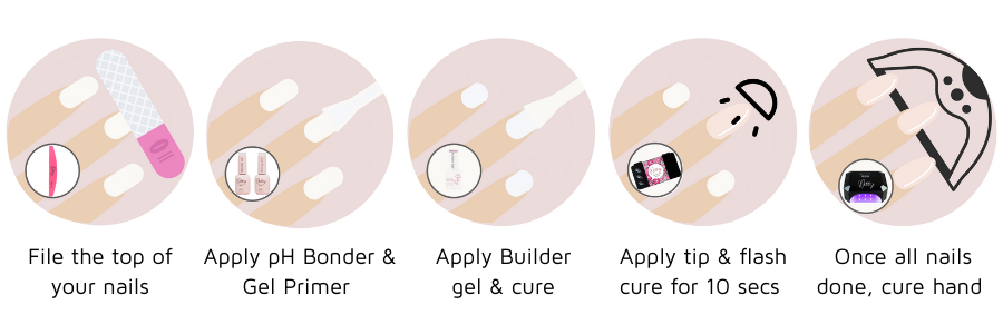 how to use nail tips to create nail extension