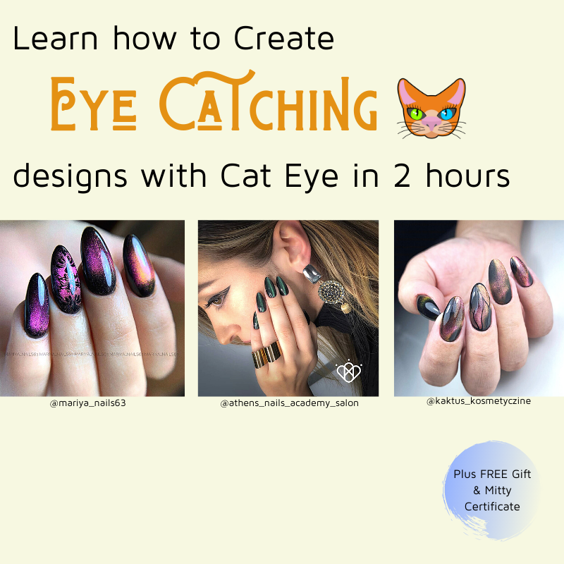 Learn how cat eye polishes work to create amazing nail arts