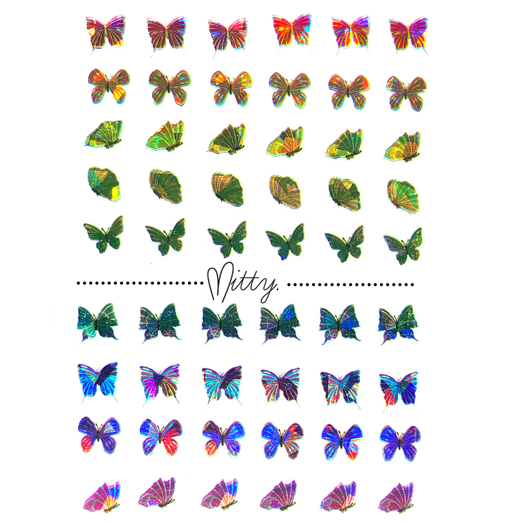 Holo 3D Butterflies - Natural Beauty