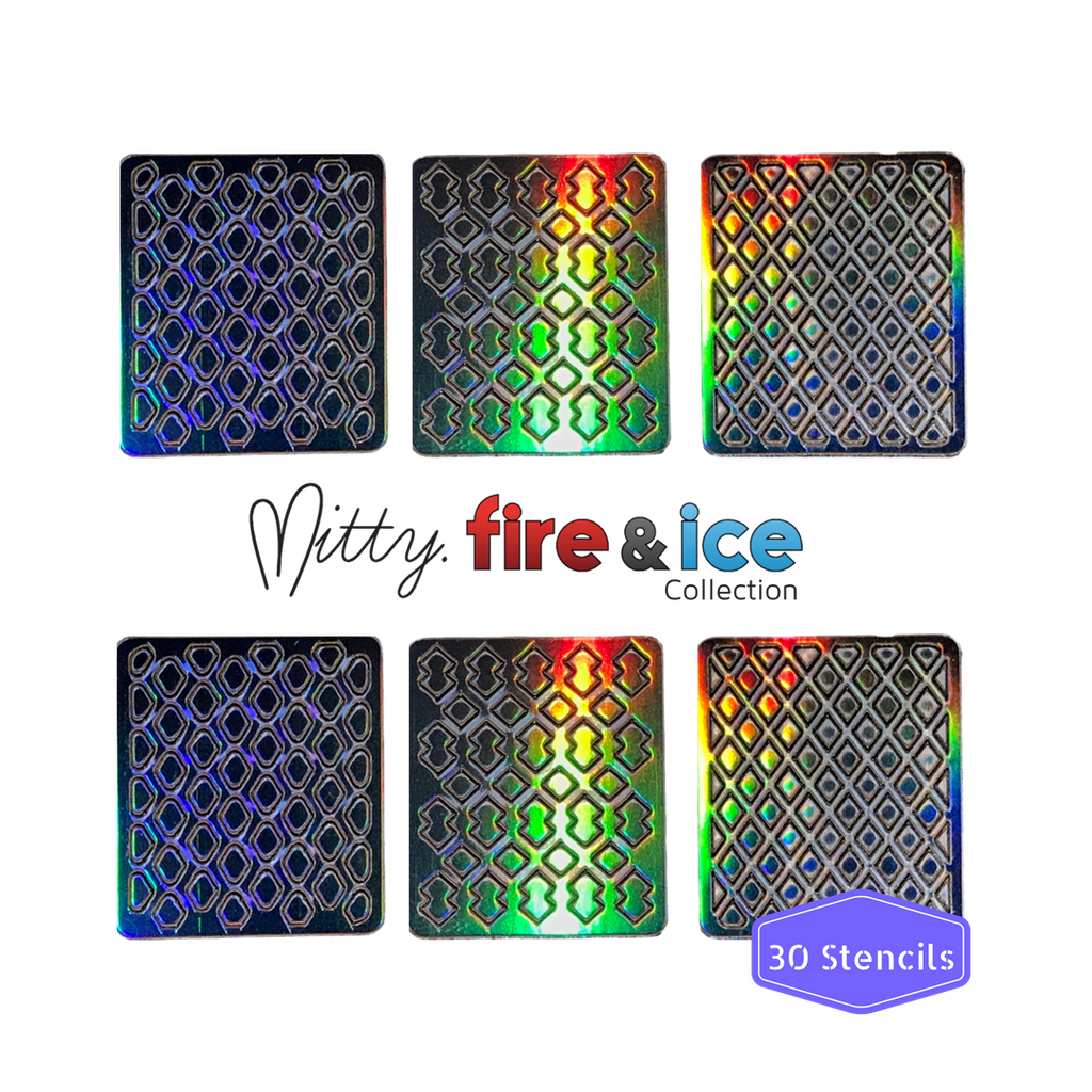 Fire & Ice Stencil - Diamonds