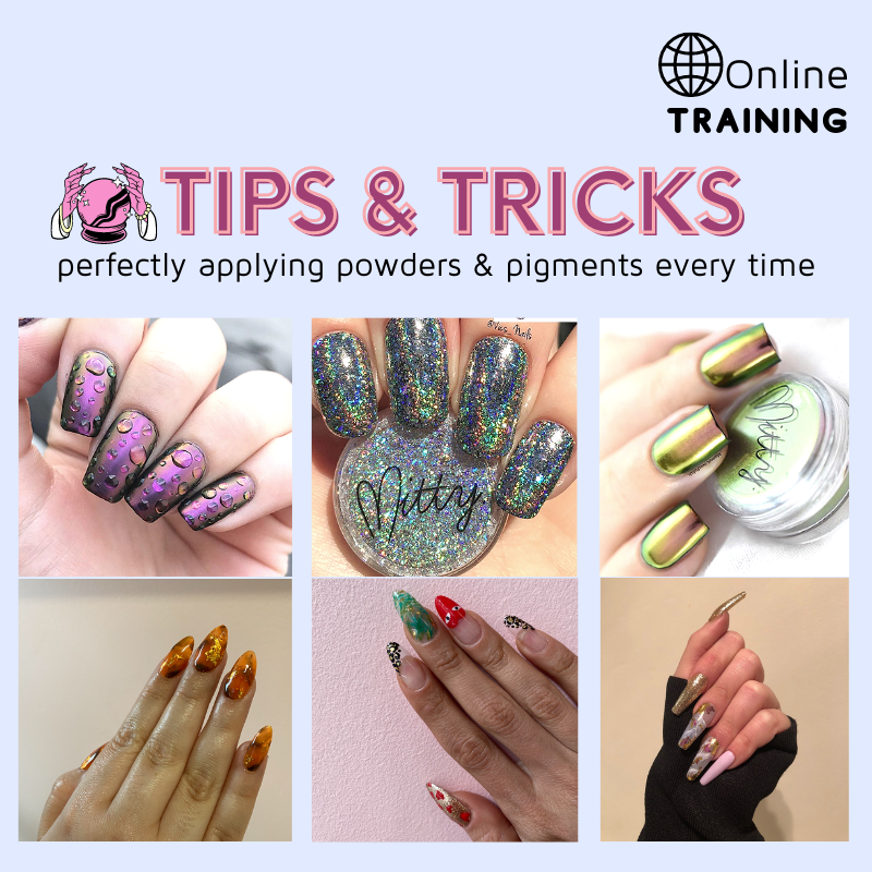 Learn how to create eye catching designs using powders