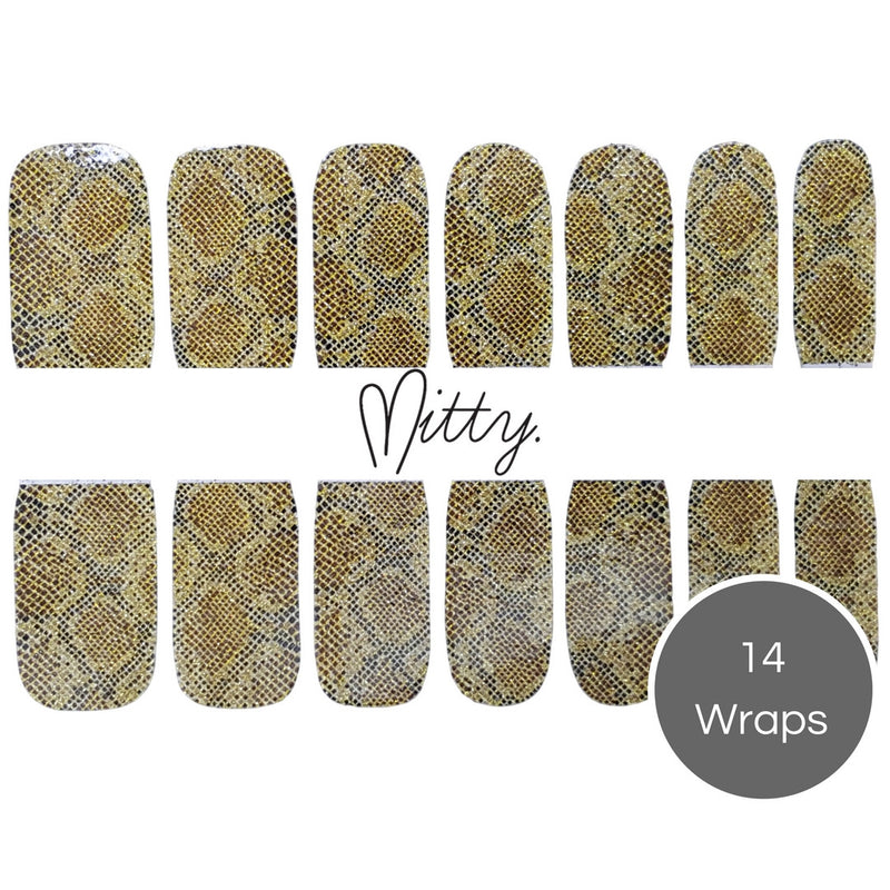 snake skin easy to apply nail stickers
