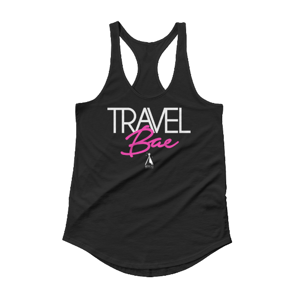TRAVEL Bae Shirttail Racer Tank | Black