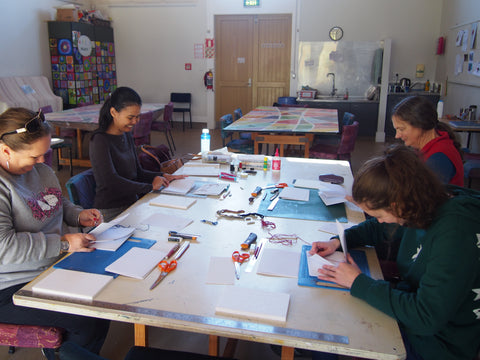 Coptic stitch bookbinding workshop rotorua hanakrafts