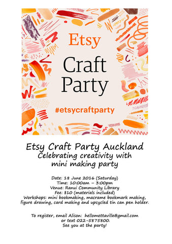 etsy craft party auckland