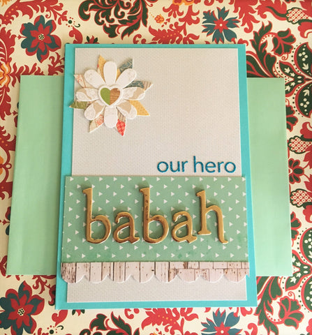 Our Hero Father's Day card