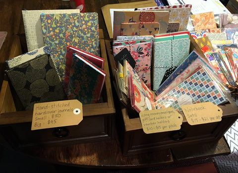 hanakrafts hand bound notebooks and long money envelopes