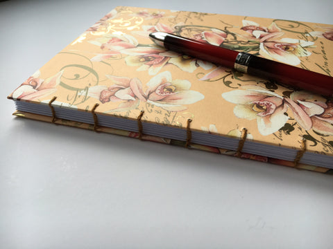 exposed coptic stitch binding journal