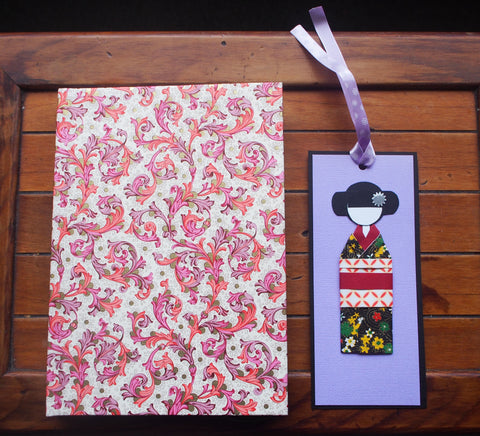 Customized notebook and bookmark