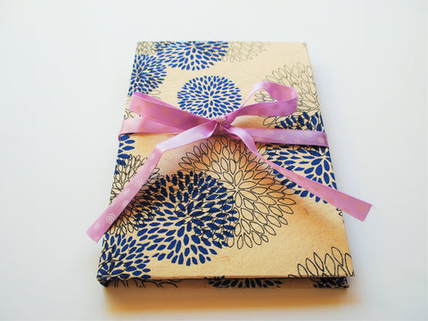Lokta paper notebook in blue