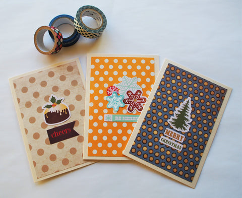 Polka dotted Christmas cards