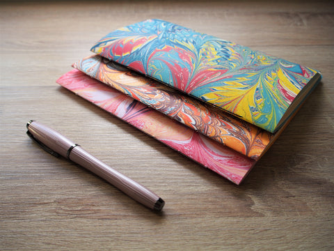 Marbled notebooks for Christmas