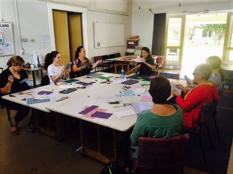 bookbinding class by hanakrafts at arts village rotorua