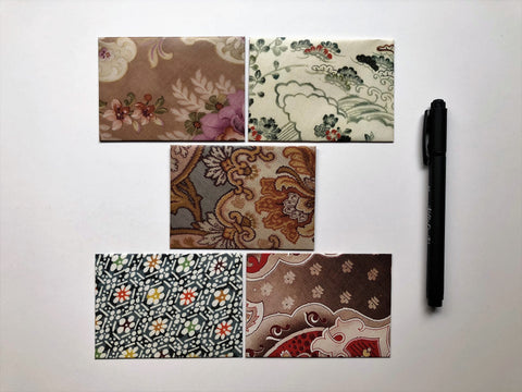 Royal fabrics design money envelopes--set of 5 in jumbo or horizontal size