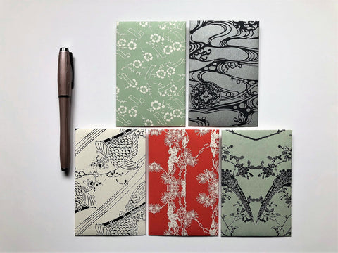 Japanese nature motifs money envelopes for Chinese New Year, Christmas, Eid, weddings, birthdays in wide design, for men and women