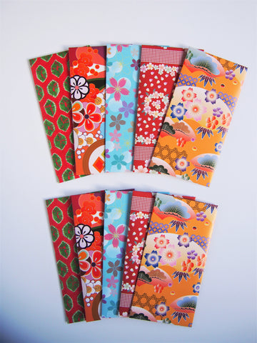 Bright and beautiful origami money envelopes for Eid--set of 10 in jumbo design