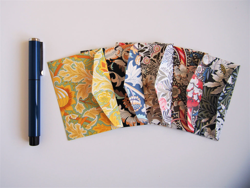 Lush foliage Eid money envelopes--set of 5 in jumbo design or horizontal design