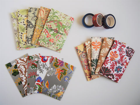 Exotic florals Eid Mubarak stamped money envelopes--set of 5 in wide design