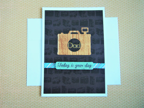 Photography Father's Day or birthday card for shutterbug dads